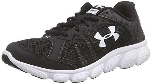Under Armour Kids Boys Grade School Micro G Assert 6 Running Shoe White/White/Black