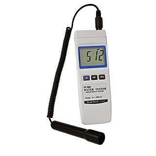 PeakTech Profi-Messgerät 2000 µS Leitfähigkeit/Digital für Wassertest, Leitwertmessgerät zur Überprüfung der Wasserqualität für Aquarium, Pool, Schwimmbad, Garten, 1 Stück, P 5125