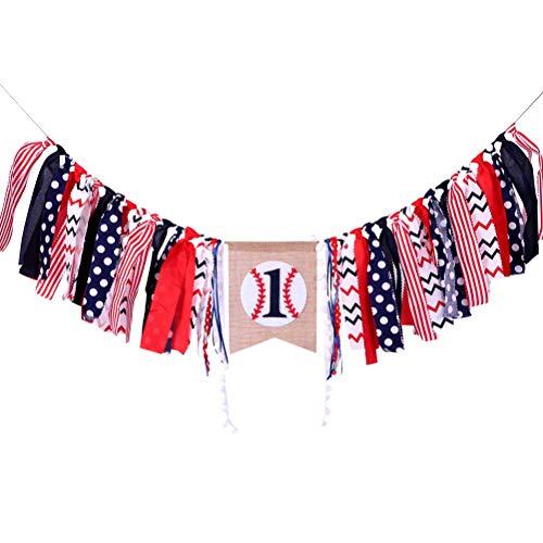 Amosfun Baseball-Baby-erste Geburtstagsfeier-Fahnen-Flaggen-Sport-Babyparty-Girlande-Flagge