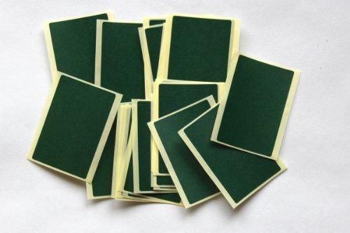 Etiquetas adhesivas de colores para codificar, 30 unidades, color verde oscuro