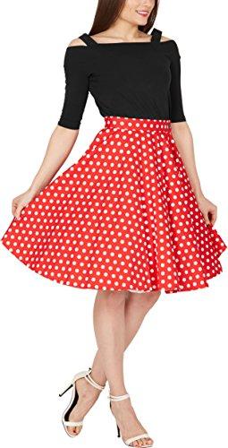BlackButterfly Polka-Dots 1950er-Jahre Swing Tellerrock (Rot, EUR 42 - L) - 4
