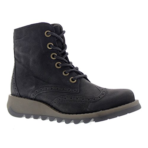 Fly London Womens SARL069FLY Leather Boots Black