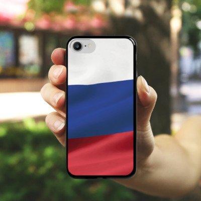 Apple iPhone 6s Hülle Premium Case Cover Russland Flagge Russia Hard Case schwarz