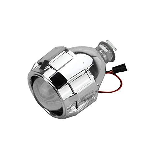 2.5 pollici Xenon Mini Bi-xeno HID Proiettore trasparente Copriobiettivo Copriobiettivo Faro personalizzato Faro H1 H4 H7 Argento (Argento)