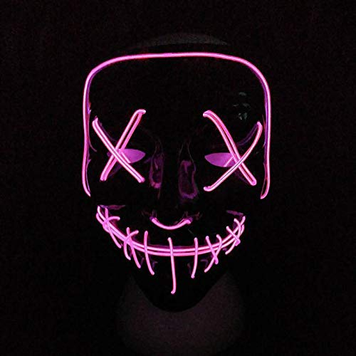 HITSAN INCORPORATION Halloween Mask Led Light Up Party Masks The Purge Election Year Great Funny Masks Festival Cosplay Costume Supplies Glow in Dark