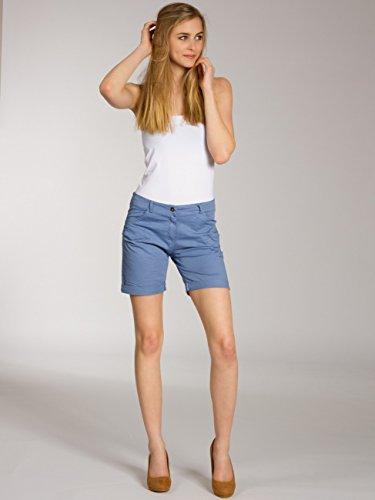 CASPAR BST006 Short en coton pour femme bleu jeans