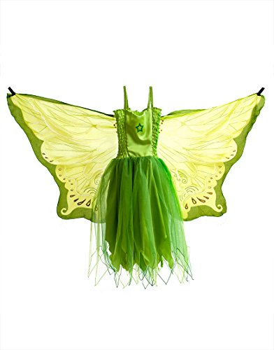 Dreamy Dress-Ups 50984 Dress, Fly-Away-Kleidchen, Green Fairy, Elf/Fee grün, M 6-7 YRS