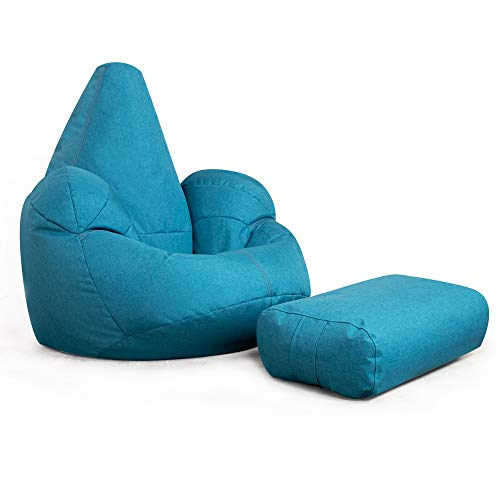 Icon Oria – Giant Outdoor Sitzsack Sessel und Fußhocker Combo – Luxus Beanbags Petrol