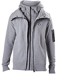 Assassin's Creed Double Layered Sweat à capuche zippé gris chiné