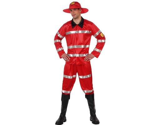 atosa 70231 costume da pompiere rosso uomo t-3 (xl)