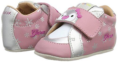 Geox B Ian A, Baskets premiers pas mixte bébé Rose - Pink (C8217DK PINK/SILVER)