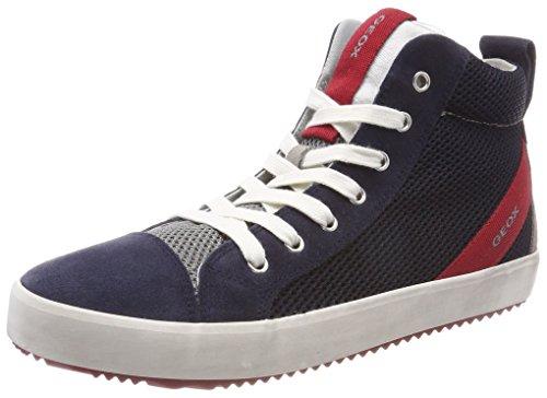 Geox j alonisso a, sneaker a collo alto bambino, blu (navy/grey), 32 eu