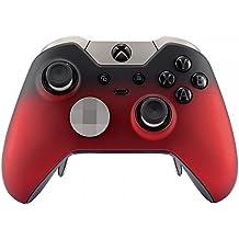 eXtremeRate Obere Hülle Schutzhülle Case Oberschale Gehäuse Skin Schale für Xbox One Elite Controller(Gradient Rot)