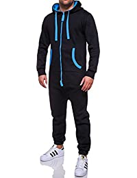MT Styles Jumpsuit Overall contrasté homme R-5106
