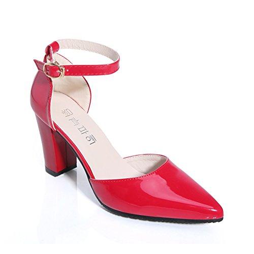 Womens Version Coréenne Des Sandales Pointues,Cent Creux Dun Mot Chaussures De Ceinture De Boucle,Chaussures Talon B