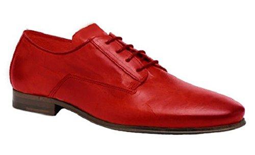 Chaussures classic model Casanova cuir par HGilliane Design Eu 33 au 46 red