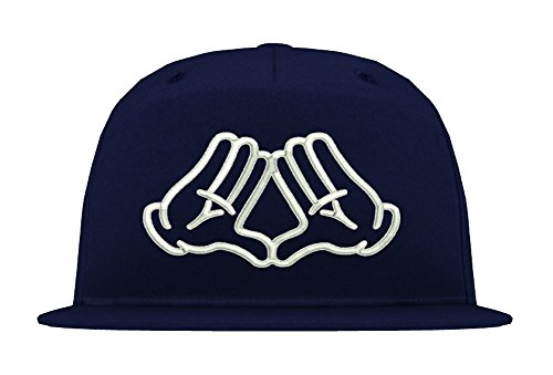 TRVPPY 5-Panel Snapback Cap Modell Mickey Illuminati, Weiß-Navyblau, B610 - Tisa Hat