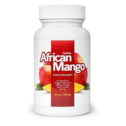 ✅AFRICAN MANGO Premium Schlankheitsmittel, Gesundes Abnehmen & Entgiften, Effektive Fettverbrennung, Fatburner, Appetitzügler, Basispaket 60 Kapseln / 720 mg (Acai-beere Diät-pillen)