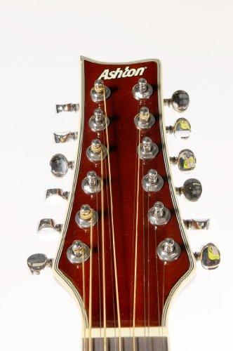Ashton SL29/12CEQTSB 12-saitige Elektro Akustik Gitarre (Rechtshändig)