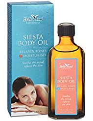 Belle Azul Siesta Body Oil - Anti-cellulite, Anti-vergetures, Huile Naturelle Corps Raffermissante et Nourrissante, Huile d'Argan Biologique certifiée Ecocert. 100ml