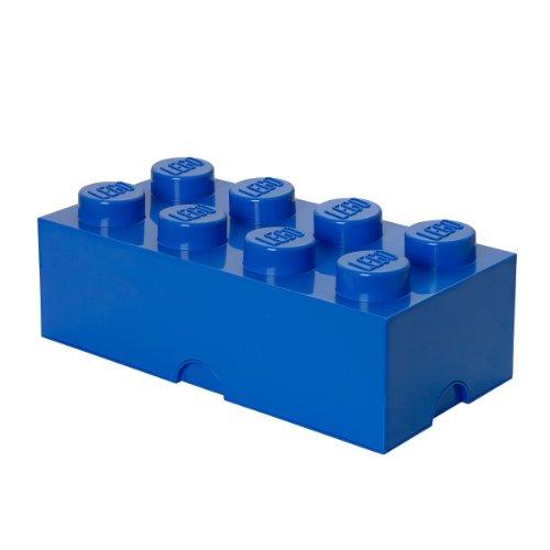 LEGO Aufbewahrungsstein, 8 Noppen, Stapelbare Aufbewahrungsbox, 12 l, blau (Spielzeug Storage Box)