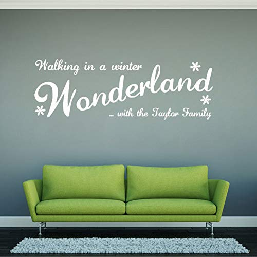 Abnehmbare 3D Wandaufkleber Wunderland Abziehbilder Für Weihnachten Wandtattoo Neuheiten Wandaufkleber PVC ()