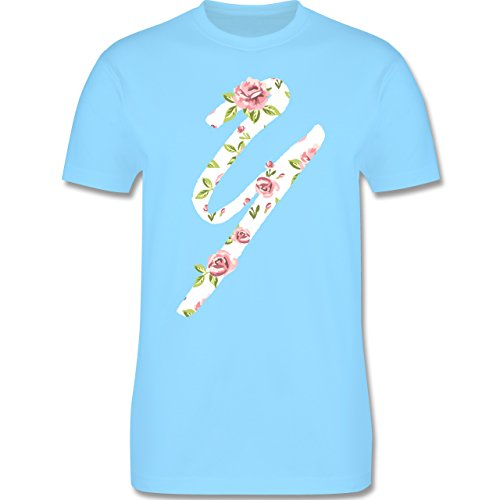Anfangsbuchstaben - Y Rosen - Herren Premium T-Shirt Hellblau