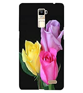 ColourCraft Rose Flowers Design Back Case Cover for OPPO R7