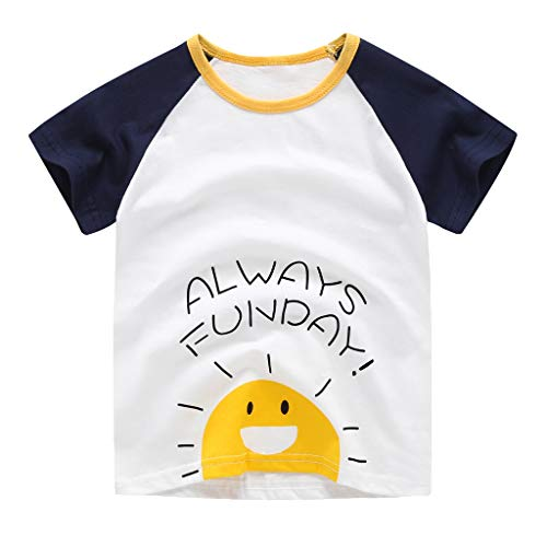 MRURIC Baby T-Shirt Jungen Babykleidung Mode Cartoon Print Kinder T-Shirt Kurzarm Klar Bin ich süß - bei dem Papa | handbedruckt in Deutschland | Handmade with Love - Unterwäsche Jungen Traktor