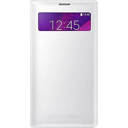 Samsung EF-EN910FTEGWW S View Wallet mit Sichtfenster und Visitenkartenfach -Classic Edition für Samsung Galaxy Note 4 weiß
