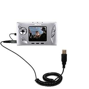 Le Câble USB Spiralé de la Marque Gomadic Charge et Transfère vos Données pour le Archos Gmini 400 402 Il Charge et Transfère vos Données Avec un seul et Unique Câble