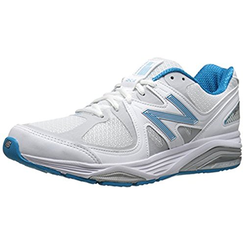 New Balance Women's W1540V2 Optimum Control Running Shoe, White/Blue, 10 4E US
