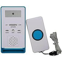 Botón de Llamada del Cuidador inalámbrico Sistema de Alerta Transmisor y Receptor para Pacientes Ancianos Niños