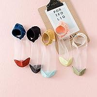 5 Pares/Paquete De Calcetines De Mujer De Verano De Color Fino Patchwork Tobillo Calcetines Lindos Chicas Estudiantes Calcetines Cortos