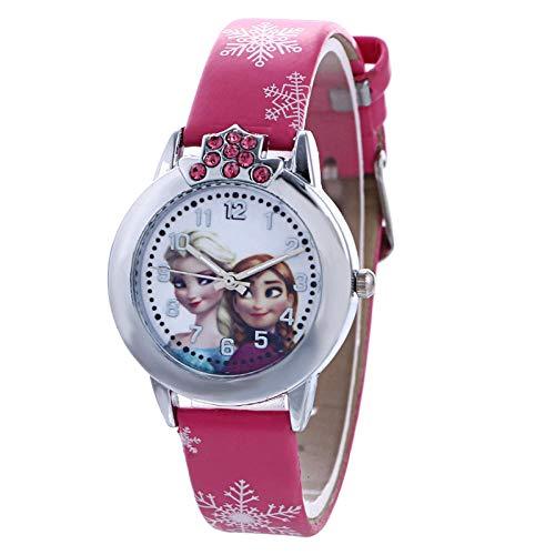 Reloj de Moda de Mujer Frozen Cartoon Reloj de Dibujos Animados Digital para Mujer Reloj de Cuarzo Reloj...