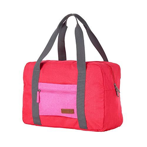Travelite Leichtes lässiges  Surferlook Trolley Reisetasche 42 cm, 21 L, Rot/Pink