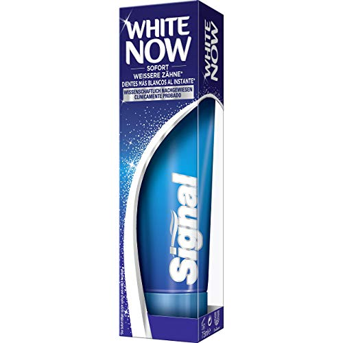 Signal Zahnpasta White Now mit Blue Light Technology, 4er Pack (4 x 75 ml)