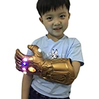 Yacn Guanto Thanos Infinity Gauntlet per adulto con guanto Light LED Avengers 4 Movie Toy