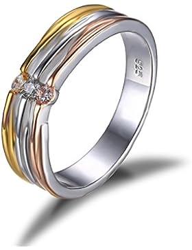 Jewelrypalace Liebe Geschenk 0.1ct Einfach Einzigartige Damen Trauung Partnerschaft Ring Silberring 925 Sterling...