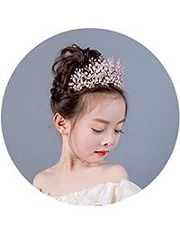 Hellrosa Blumenmädchen Kinder Hochzeit Haarschmuck Haarreif Krone Diademe Tiara