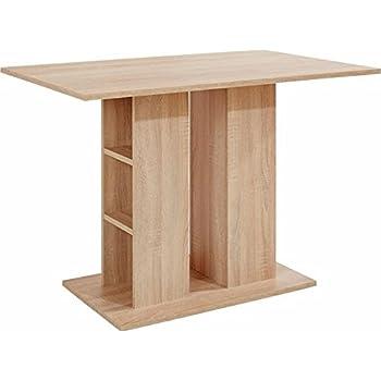 CAVADORE Säulentisch MULAN / Moderner Esstisch aus Melamin Sonoma ...