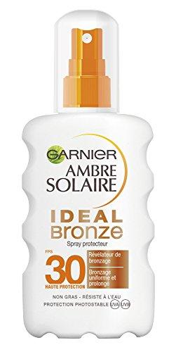 Garnier Ambre Solaire Ideal Bronze Spray Protecteur Révélateur de Bronzage FPS 30 200 ml