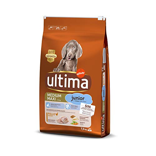 Ultima Pienso para Perros Medium Maxi Junior con Pollo - 7.5 kg