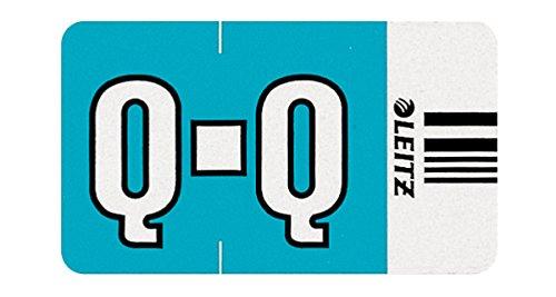 Leitz Orgacolor 66261000 - Etiqueta de identificación con letra (Q, 250 unidades), color azul