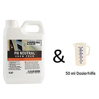 ValetPRO pH Neutral Snow Foam 1 Liter Schaum Schnee für Auto Wäsche Sprühschaum plus 1 Messbecher 50ml von detailmate