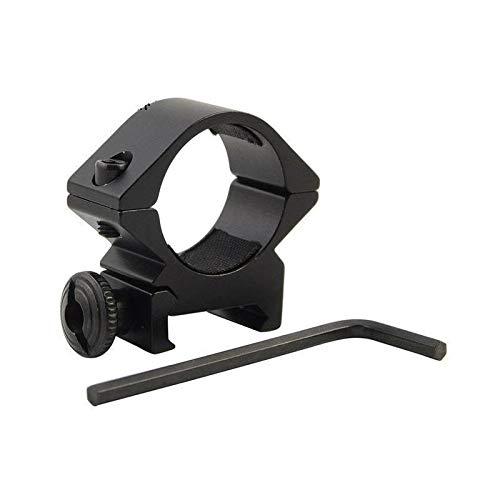 LSHBAO-Hunting, Taktische Lauf 25,4mm Low Scope Taschenlampe Laser Sight Taschenlampe Ring Mount Schiene Airsoft Jagdgewehr Umfang Zubehör (Color : Black) -
