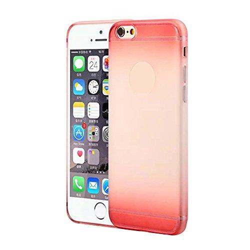 Cuitan Premium Quality TPU Doux Housse Case pour Apple iPhone 6 / 6s (4.7 Inch), Mode Gradient Givré Design Slim Protecteur Etui Case Coque Case Cover Housse pour iPhone 6 / 6s (4.7 Inch) - Rose Rouge Vin Rouge