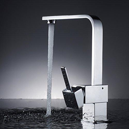 Auralum – Elegante 360° schwenkbare Küchenarmatur, Chrom - 9