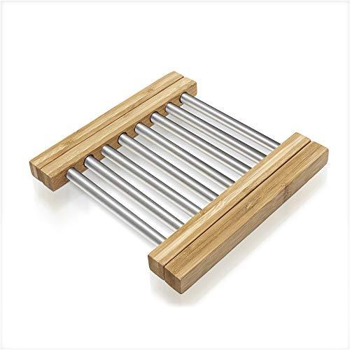 Prosumer's Choice Untersetzer aus Bambus, ausziehbar, für Küche oder Esstisch, verstellbar von 21,6 bis 35,6 cm Iron Plate Holder
