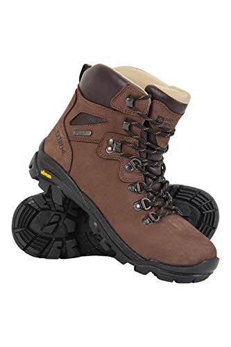 Mountain Warehouse Odyssey Extreme Waterproof Womens Vibram Boots - Durable Ladies Hiking Shoes, Cushioned Footbed Camping Footwear - Best for Travelling, Trekking